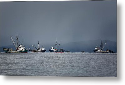 Metal Print featuring the photograph Seiners Off Mistaken Island by Randy Hall