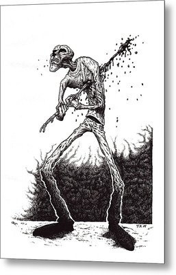 Self Inflicted Metal Print by Tobey Anderson