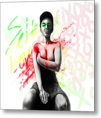 Metal Print featuring the digital art Self Love Xoxo by AC Williams