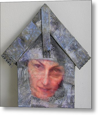 Self-portrait In A Russian House Metal Print by Alla Parsons