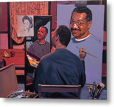 Self Portrait Metal Print by Kenneth Young