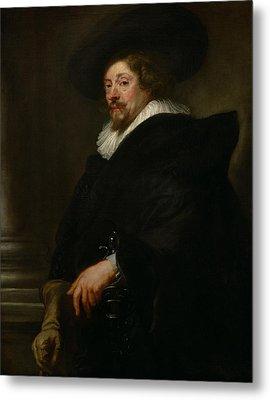 Self-portrait Metal Print by Peter Paul Rubens