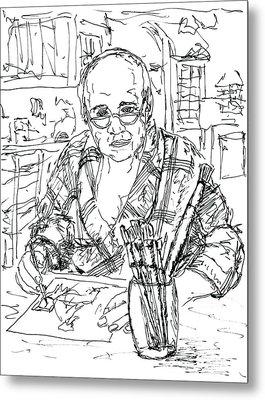Self Portrait Six Am My Kitchen Metal Print by Randy Sprout