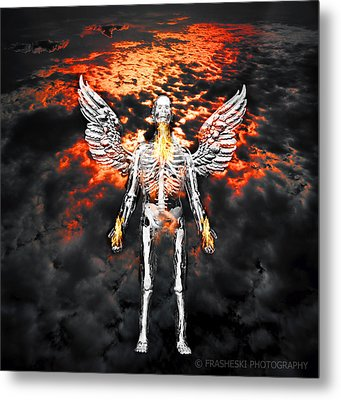Self Portrait With Wings Metal Print by Andy Frasheski
