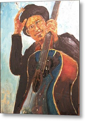 Self Potrait As Bob Dylan  Metal Print by Udi Peled