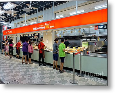 Metal Print featuring the photograph Self-service Restaurant On A Sidewalk In Kaohsiung City by Yali Shi