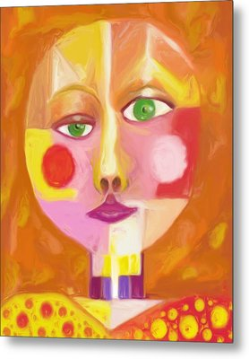 Metal Print featuring the painting Self by Shelley Bain