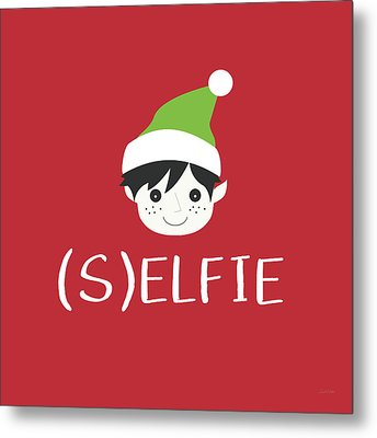 Selfie Elf- Art By Linda Woods Metal Print by Linda Woods