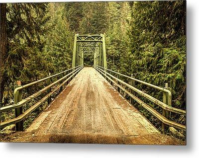 Selway River Bridge Metal Print
