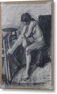 Semi Cubist Life Drawing Metal Print