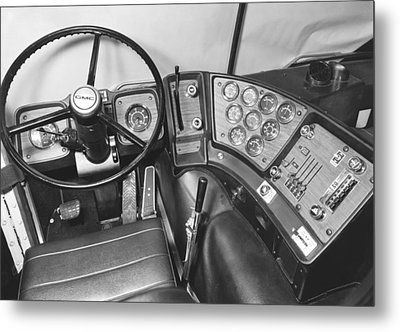 Semi-trailer Cab Interior Metal Print by Underwood Archives