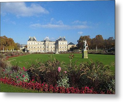 Metal Print featuring the photograph Senate From Jardin Du Luxembourg by Christopher Kirby