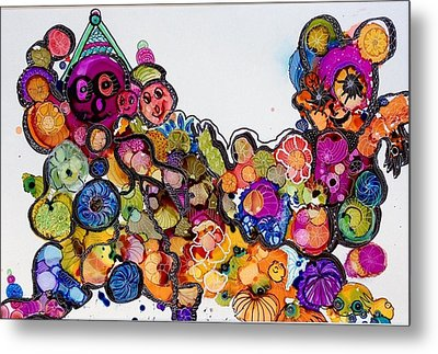 Send In The Clowns Metal Print by Suzanne Canner