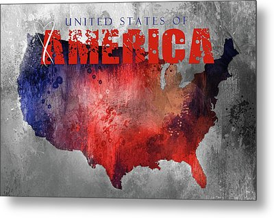 Sending Love To The United States Of America Metal Print
