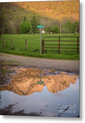 Seneca Rocks Reflection Metal Print by Dr Regina E Schulte-Ladbeck