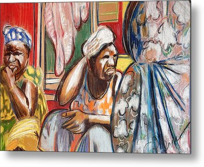 Metal Print featuring the painting Senegal, 1965 by Gary Coleman