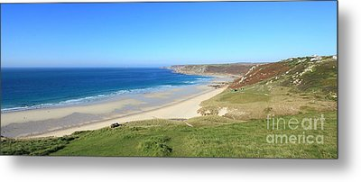 Sennen Cove - Panoramic Metal Print by Carl Whitfield