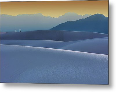 Sense Of Scale - 2 - White Sands - Sunset Metal Print