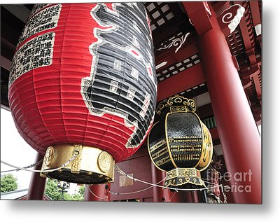 Sensoji Lanterns Metal Print by Andy Smy