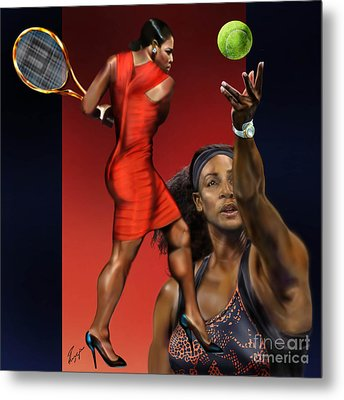Sensuality Under Extreme Power - Serena The Shape Of Things To Come Metal Print