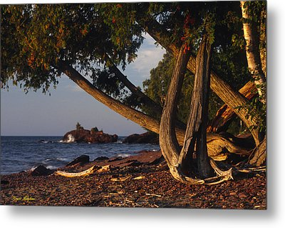 Sentinels Of Lake Superior Metal Print