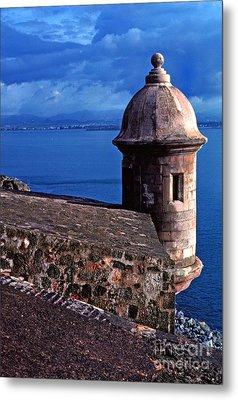 Sentry Box El Morro Fortress Metal Print by Thomas R Fletcher