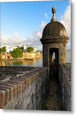Sentry Post On Old City Wall Metal Print by George Oze