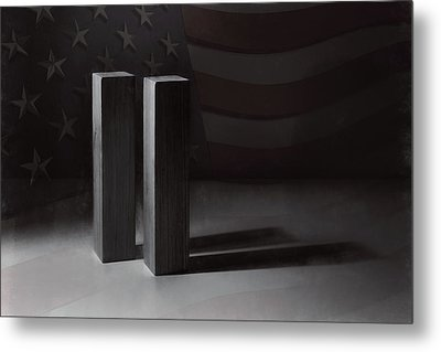 September 11, 2001 -  Never Forget Metal Print by Scott Norris