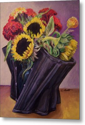 Metal Print featuring the painting September Cincher by Laura Aceto