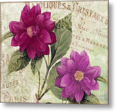 September Dahlias Metal Print by Mindy Sommers