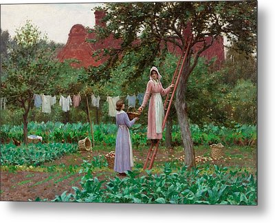 September Metal Print by Edmund Blair Leighton