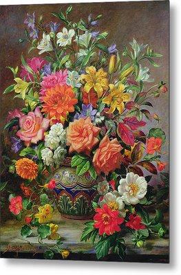 September Flowers   Symbols Of Hope And Joy Metal Print by Albert Williams