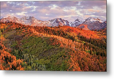 Metal Print featuring the photograph September Snow In The Wasatch Back. by Johnny Adolphson