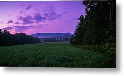Metal Print featuring the photograph September Twilight by Chris Bordeleau
