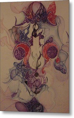 Metal Print featuring the drawing Septenber 2001 by Jack Dillhunt