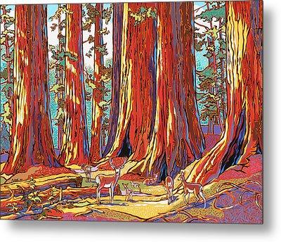 Sequoia Deer Metal Print