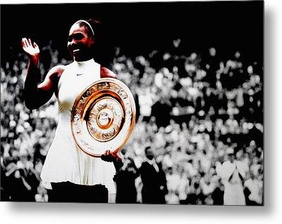 Serena 2016 Wimbledon Victory Metal Print by Brian Reaves