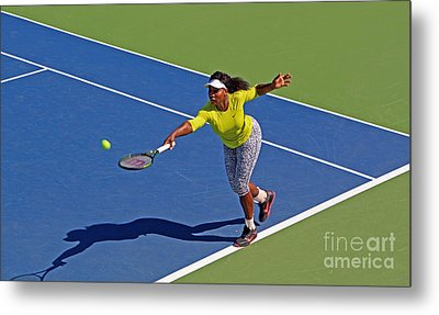 Serena Williams 1 Metal Print by Nishanth Gopinathan