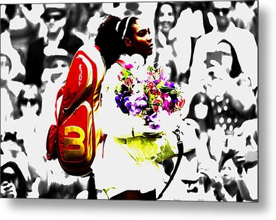 Serena Williams 2f Metal Print by Brian Reaves