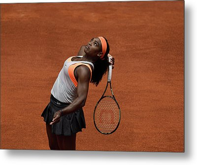 Serena Williams 3 Metal Print by Dani Pozo