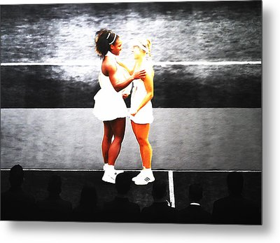 Serena Williams And Angelique Kerber 3a Metal Print by Brian Reaves