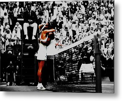 Serena Williams And Angelique Kerber Metal Print by Brian Reaves