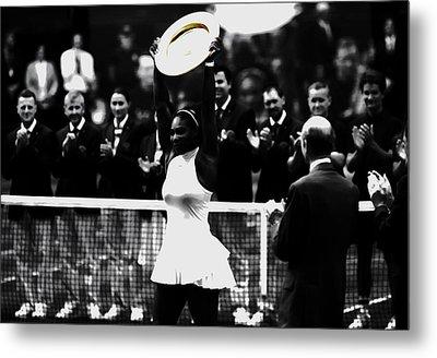 Serena Williams Eye On The Prize Metal Print