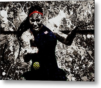 Serena Williams S4e Metal Print by Brian Reaves