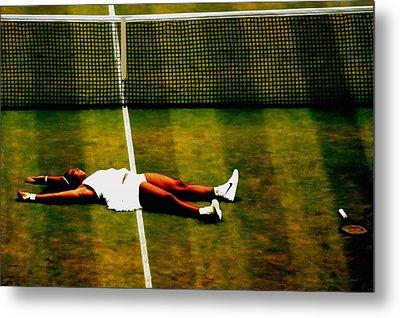 Serena Williams History Made Metal Print