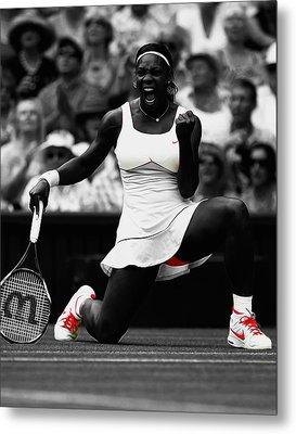 Serena Williams Wimbledon 2010 Metal Print
