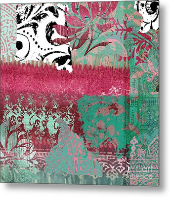 Serendipity Damask Batik I Metal Print by Mindy Sommers