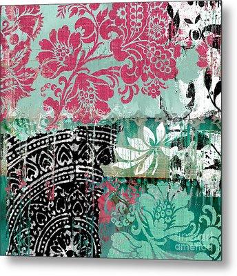 Serendipity Damask Batik II Metal Print