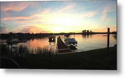 Serene Sunset Metal Print by Rebecca Wood