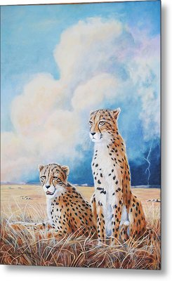 Metal Print featuring the painting Serengeti Strikes by DiDi Higginbotham